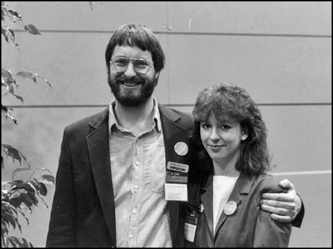 Steve and Betty at Comdex, 1984